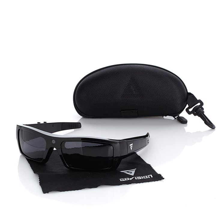 GoVision Polarized 1080p HD Video-Capture Sunglasses with Built-In Bluetooth 4.0 Speakers, Smart Assistant Voice Command, 15MP Still Camera, 8GB mi...