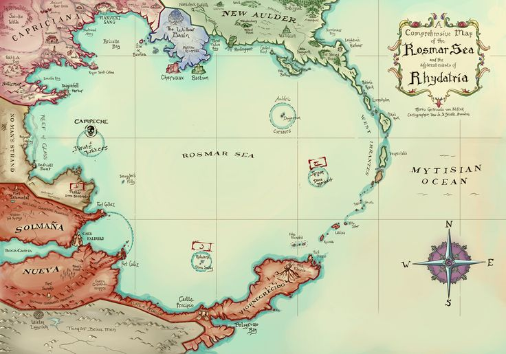 [ART] Pirates of the Rosmar Sea - Campaign Map : DnD