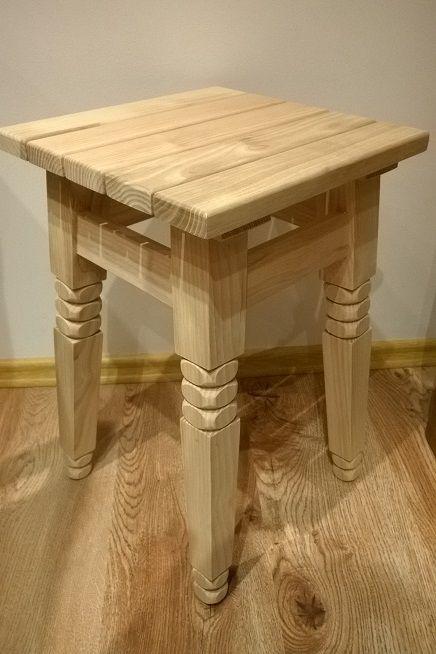 TABORET Drewniany Podtaczany + GRATIS Świeczniki (59933614)