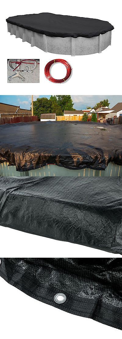 Pool Covers and Rollers 181068: 16 X32 Oval Micro Mesh Above Ground Swimming Pool Winter Cover-5 Yr Limited Wty -> BUY IT NOW ONLY: $69.95 on eBay!