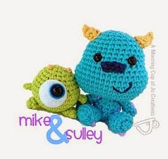 Amigurumi Monsters Inc. Baby Mike and Sulley - FREE Crochet Pattern / Tutorial