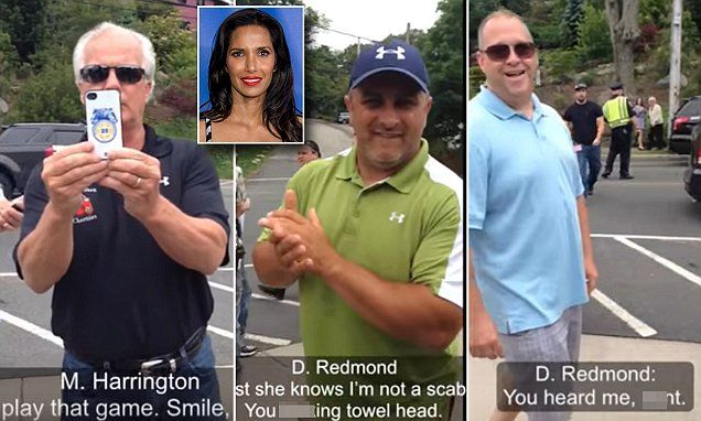 Garbage racist people - The attack took place outside a Boston restaurant where Top Chef  was filming in 2014. Men from the Brotherhood of Teamsters were their picketing when they made the comments.