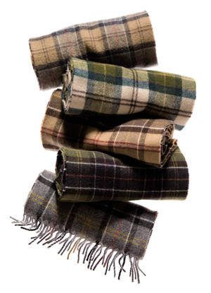 Barbour Tartan Scarves (http://www.orvis.com/p/barbour-merino/cashmere-tartan-scarf/73kl)- really like the scarf 2nd to the top