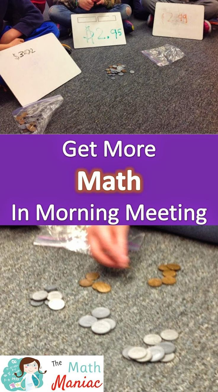 Blog author wrote: See how I get more out of morning meeting time!  Counting, coins, adding and more!
