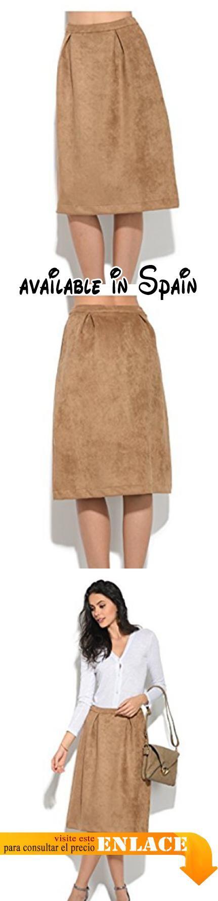 B075SKRJ78 : Orfeo - Falda RITA - Mujer - M - Beige. Falda plisada en la cintura. Cierre con cremallera. 2 Bolsillos. Longitud 68cm