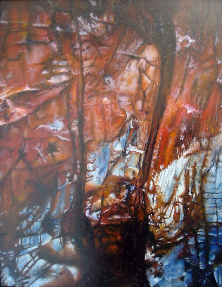 Ayers rock I. Oil painting.