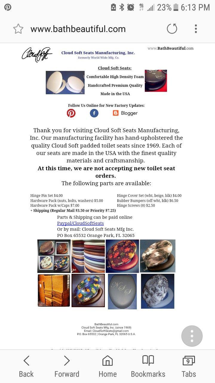 Cloud Soft Seats factory website: http://www.bathbeautiful.com Keep ...