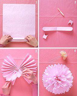pink pom-poms