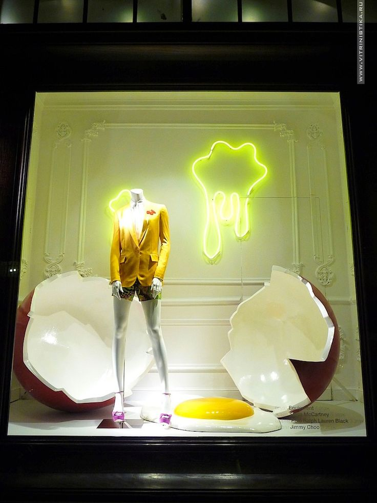 Surreal window display. #retail #merchandising #display