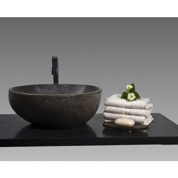 Wohnfreuden Marmor Naturstein Aufsatz Waschbecken 30 Cm Natur Grau