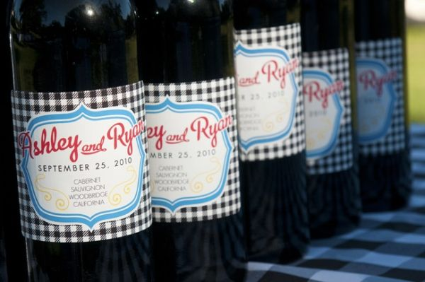 Personalised wine bottle labels - just great!