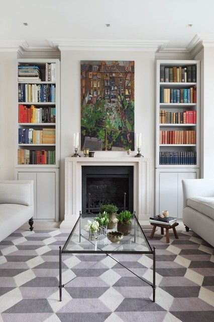 Discover our living room ideas on HOUSE - design, food and travel by House & Garden. The dimensions of these shelving units were dictated to the millimeter by the height of the speakers that nestle discreetly among the coded volumes.