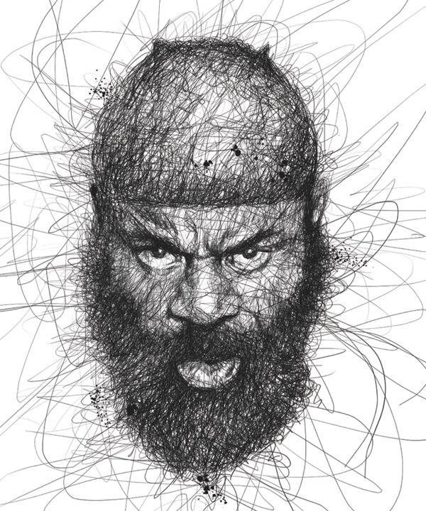 Faces by Vince Low, via Behance