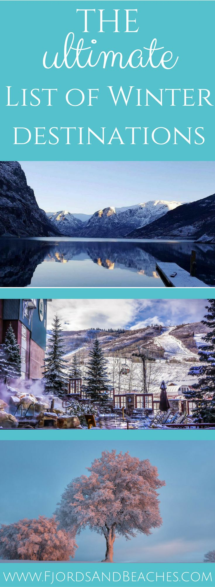 Travel bloggers share their ultimate winter destinations. Whether you're a sun chaser or a snow lover, you'll find the perfect destination for you! Winter travel.