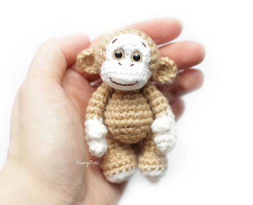 Ravelry: Little crocheted monkey pattern by Anastasia Kirs