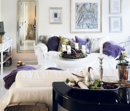 Lavender accessories.
