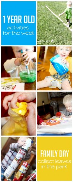 Simple toddler activities for 1 year olds to do this week