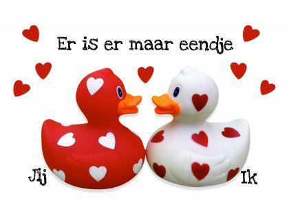Valentijn Eendje voor mij - Valentijnskaarten - Kaartje2go