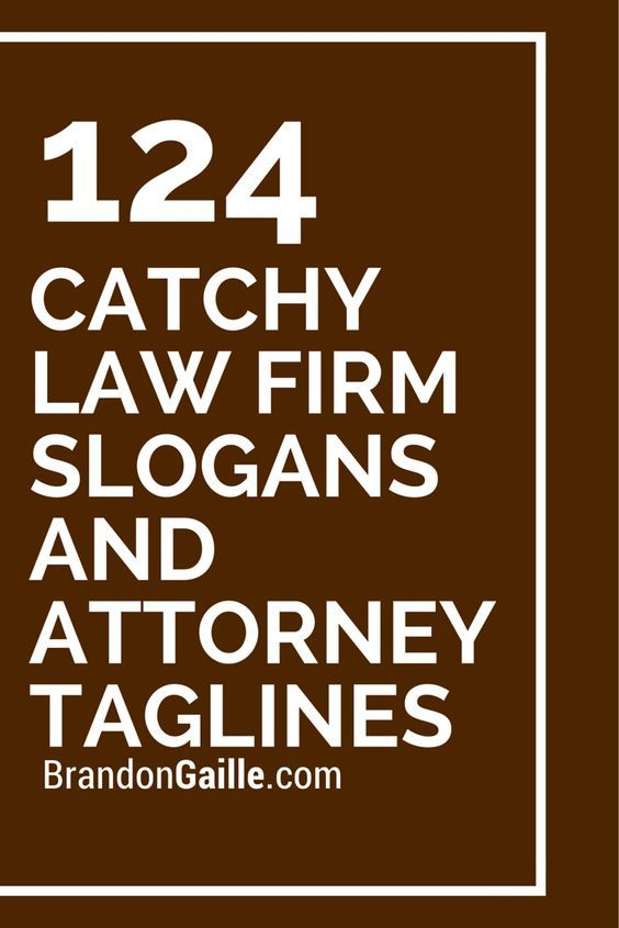 125 Catchy Law Firm Slogans and Attorney Taglines – Rabea Khalife