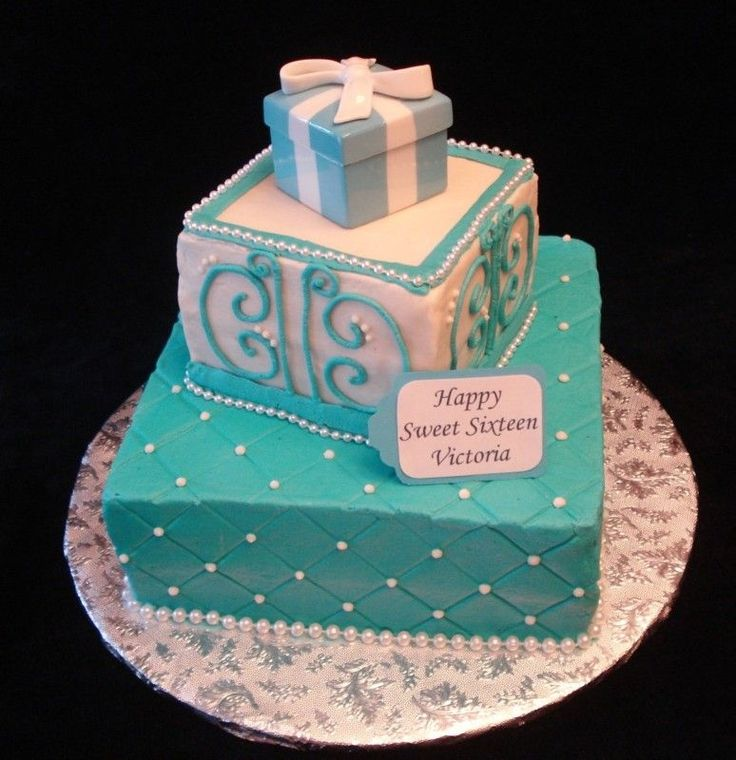 square sweetsixteen birthday cakes | Tiffany Sweet Sixteen — Children's Birthday Cakes