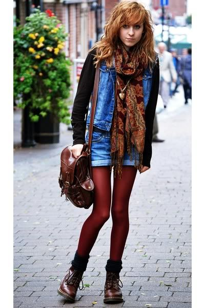 a9a3fe5eb79 Love the texturing and color going on in this outfit. The red Doc Martens  almost ...