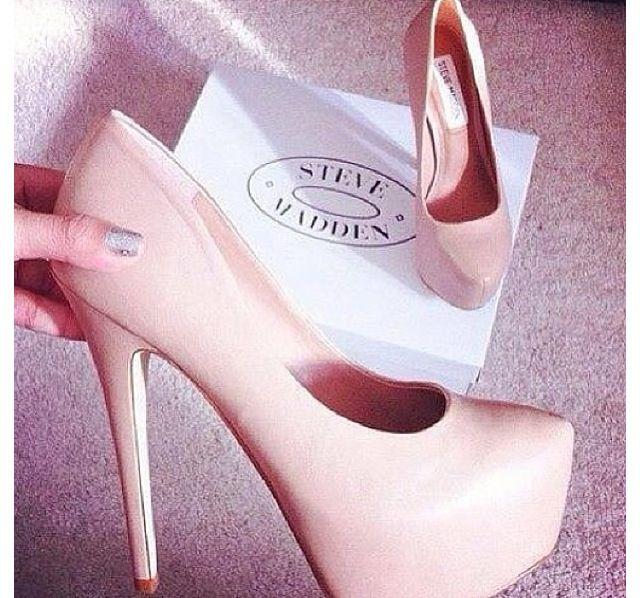 Cute light pink heels  shoes  Pinterest  Steve madden Pump and