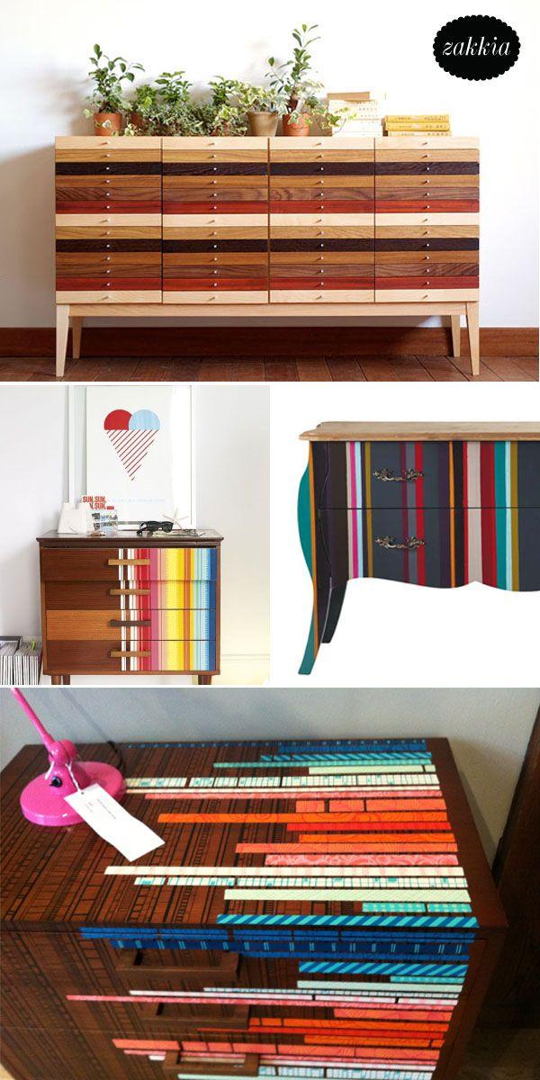 Stripey drawers - Zakkia - Knobs & Handles