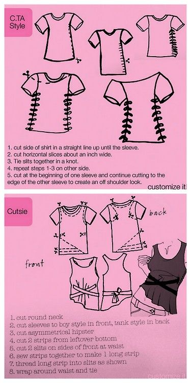 DIY Fitted Tee Shirt Graphic from CTA Glam Couture here. From the book 99 Ways to Cut Sew, Trim & Tie Your T-Shirt into Something Special by Faith and Justina Blakeney, Anika Livakovic and Ellen Schultz. There is just one more tee shirt posted but I didn't like it as much.