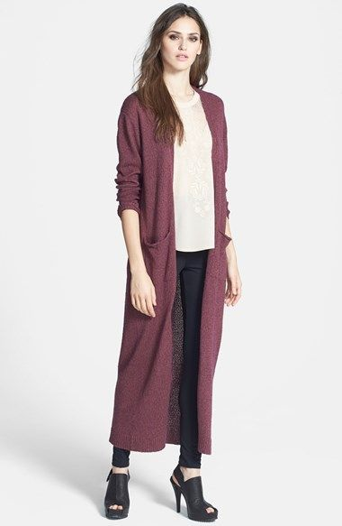 Free shipping and returns on Leith 'Maxi' Long Cardigan at Nordstrom.com. A nubby cotton knit forms an draping, maxi-length cardigan that adds warmth and flowing movement to any outfit.