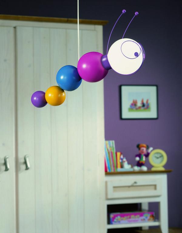 Philips Ruby Caterpillar Children's Ceiling Pendant Light