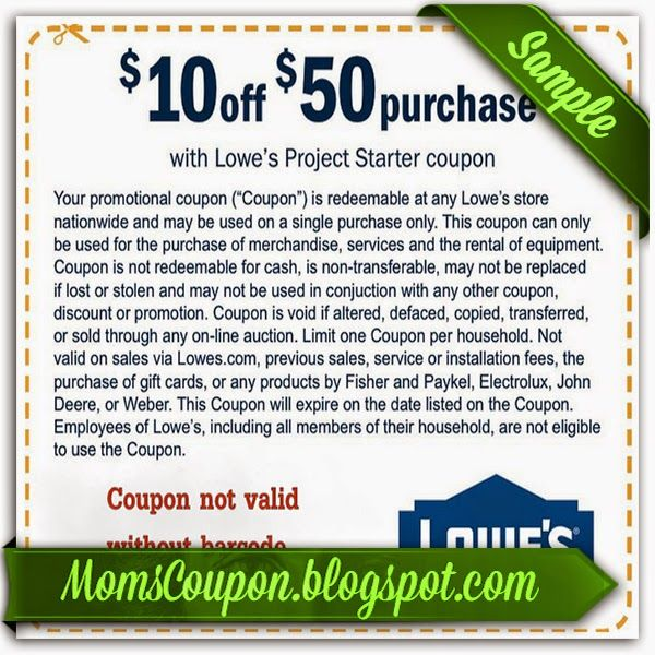 Sep 09,  · Grocery Coupons Print Grocery Coupons $10 Lowes Coupon With Purchase (In Store & Online) Shop lowes stores or tongueofangels.tk between Jan & 18 and get a $10 off $50 coupon to use on future purchases. It will be printed on your in store receipt, for online purchases coupon will be sent to your email/5(35).