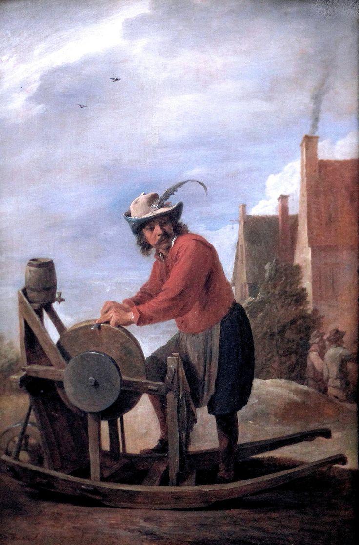 David Teniers II. 1610-1690. Anvers | David Teniers le Jeune. 1610-1690. Anvers. Le Rémouleur. Louvre