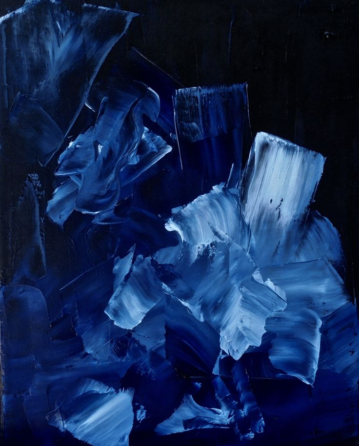 Ikebana - minimal oil abstract painting