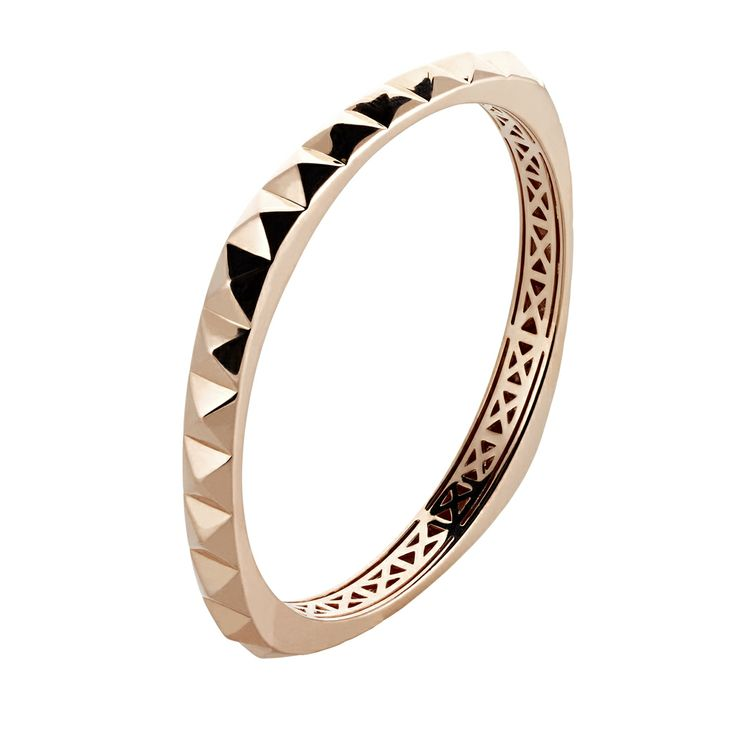 Oxette Rose Gold  plated Bracelet - Available here: http://www.oxette.gr/kosmimata/vrahiolia/st.steel-iprg-bracelet-pyramids-oxette-519l-1/