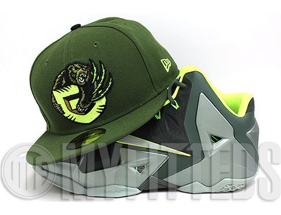 Custom Vancouver Grizzlies Army Olvie 59Fifty Fitted Cap by NBA x NEW ERA