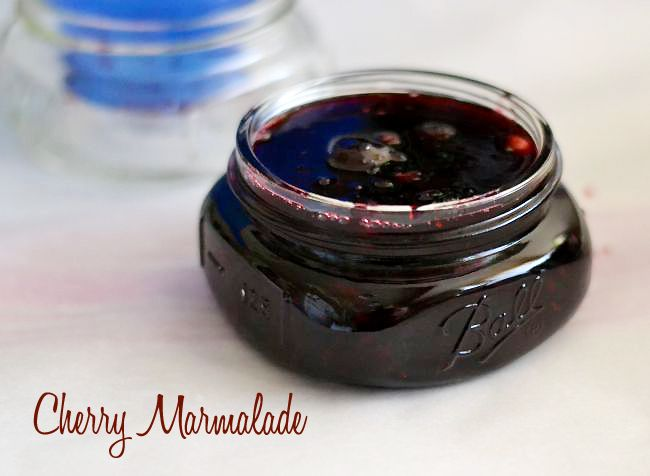 Take advantage of Cherry season and make this Cherry Marmalade Recipe. Enjoy the summer flavors all winter long. Makes a perfect homemade holidays gift.