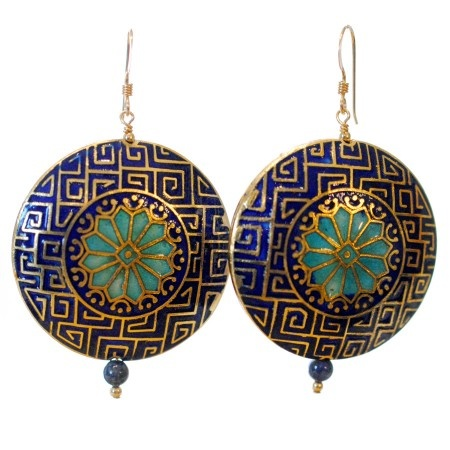 Layla Earrings in Morrocan Blue