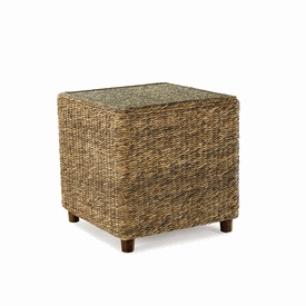 Superb The Tangiers Seagrass End Table Features A Tempered Glass Top And Wood  Feet. Offering Quality Wicker Furniture, Rattan Furniture And Outdoor Wicker  ...