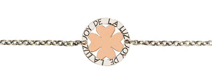 Joy de la Luz   Silver bracelet leaf rosé  €39,95