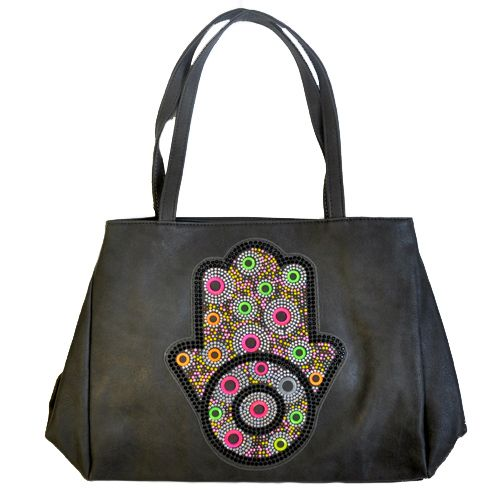 Beautiful bags now available at #NicciAW17 #hamsa