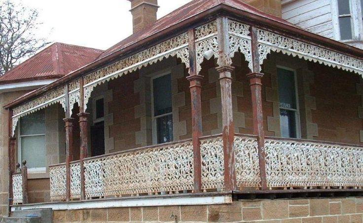 Cast Iron Birdsville design Verandah and balcony lacework ready to be restored.