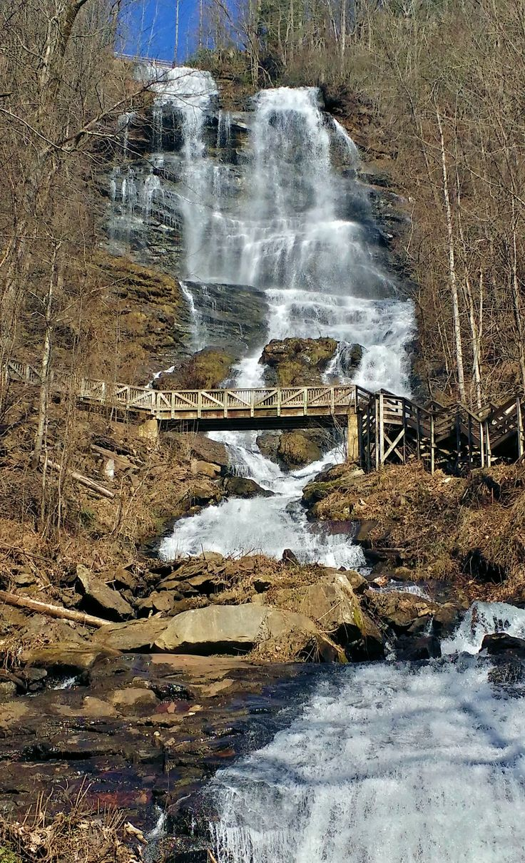 Amicalola Falls In Amicalola Falls State Park Just East Of Ellijay Ga Feb 2016 Places