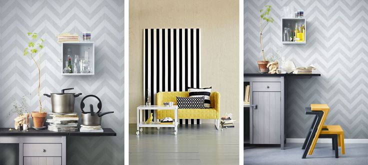 gray and yellow interior