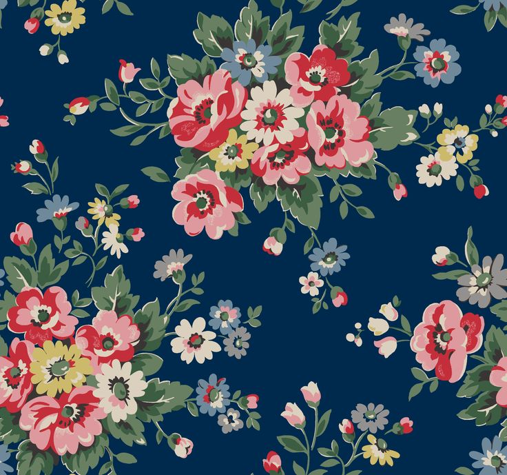 Folk Flowers | Pretty bunches of colourful, folksy wildflowers | Cath Kidston AW14 |