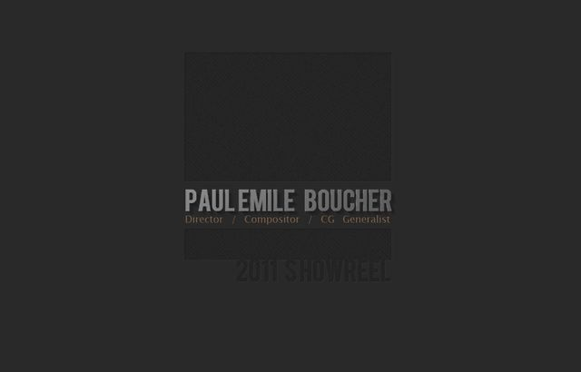 Paul Emile Boucher - one of our French interns of 2011; great generalist and amazing work!