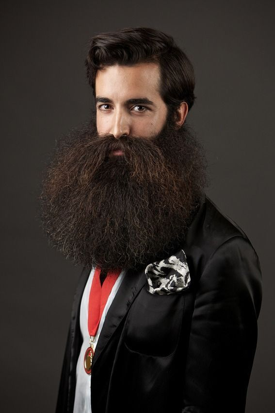 Hipster with beard.