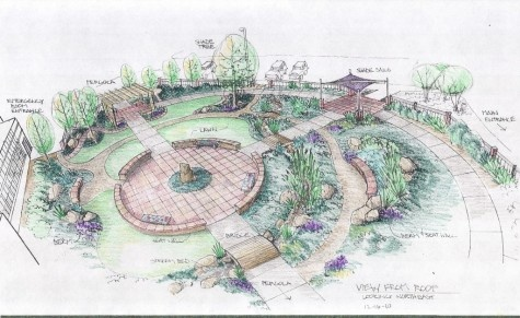 Chapter 11 healing garden heart of the rockies regional medical center therapeutic garden for Gardens regional hospital and medical center