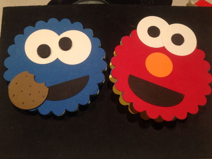 Elmo and Cookie Monster by me