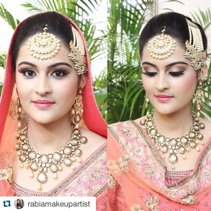 #Repost @rabiamakeupartist with @repostapp. ・・・ Flawless , perfectly blended HD makeup. Simran made such a Beautiful bride...that pretty face , gorgeous jewellery,  attire and the colours were just perfect for her day Sikh wedding in Chandigarh. Wish her all the love and happiness. Stay Blessed!