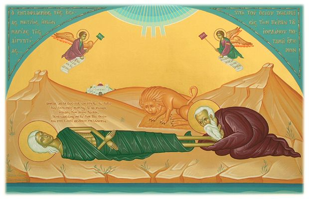 St. Mary of Egypt, the Righteous, and a trueIcon of Repentance - Commemorated on April 1, and on the 5th Sunday of Great Lent  ( http://pra...